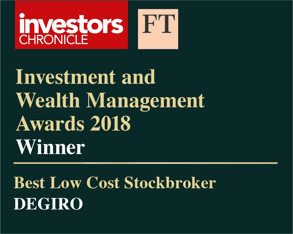Financial times award for best low cost stockbroker goes to DEGIRO